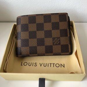 Louis Vuitton Brown Damier Ebene Bifold Wallet